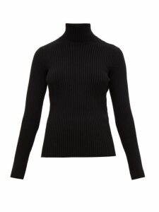 Balenciaga - High-neck Rib-knitted Sweater - Womens - Black