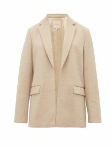 Roksanda - Lidia Wool Mouline-jersey Blazer - Womens - Beige