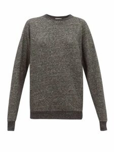 Raey - Raglan Sleeve Cotton Blend Sweatshirt - Womens - Dark Grey