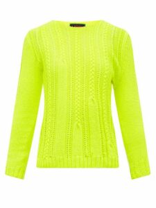 La Fetiche - Ivy Shrunken Style Wool Sweater - Womens - Yellow