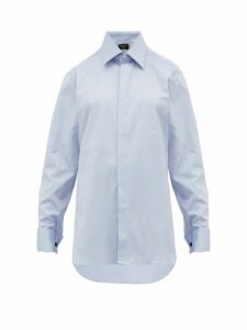 Emma Willis - French-cuffed Cotton-oxford Shirt - Womens - Dark Blue