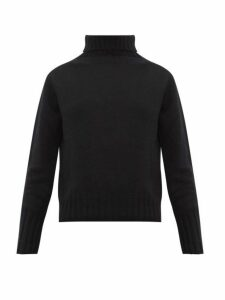 Margaret Howell - Ribbed Roll Neck Brushed Cashmere Sweater - Womens - Black