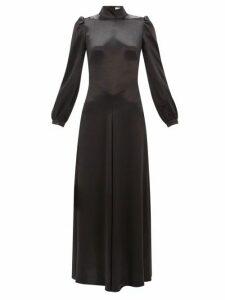 Bella Freud - Ophelia Tie-back Satin Dress - Womens - Black