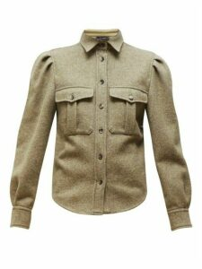 Isabel Marant - Florrie Puffed-sleeve Wool-blend Overshirt - Womens - Khaki