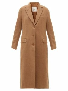 Giuliva Heritage Collection - The Tatjana Single-breasted Herringbone-twill Coat - Womens - Camel