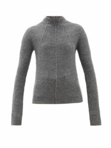 Jil Sander - Mock-neck Cashmere-blend Sweater - Womens - Dark Grey