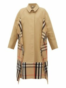 Burberry - House-check Cashmere And Cotton Trench Coat - Womens - Beige Multi