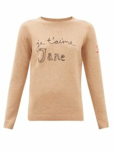 Bella Freud - Je T'aime Jane Wool Blend Sweater - Womens - Camel