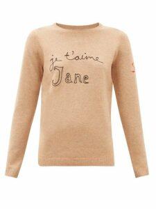 Bella Freud - Je T'aime Jane Wool-blend Sweater - Womens - Camel