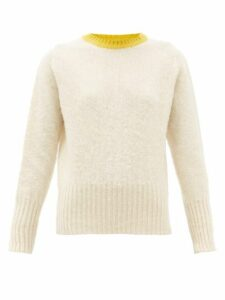 La Fetiche - Viva Contrast Neck Wool Sweater - Womens - Cream
