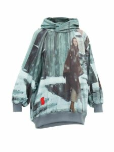 Undercover - Suspiria Print Cotton Hooded Sweatshirt - Womens - Grey Multi