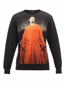 Undercover - Tilda Swinton Suspiria-print Cotton Sweatshirt - Womens - Black Multi