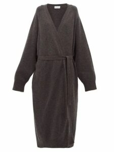 Raey - Long Shawl Belted Cashmere Cardigan - Womens - Charcoal