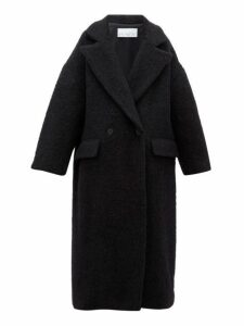 Raey - Double-breasted Wool-blend Blanket Coat - Womens - Black