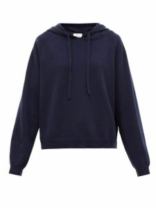 Allude - Hooded Wool-blend Sweater - Womens - Navy