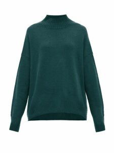 Allude - Mock Neck Cashmere Sweater - Womens - Green