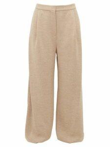 Roksanda - Kaura Wool Mouline-jersey Trousers - Womens - Beige