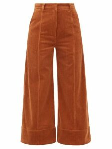Dodo Bar Or - Ivy Cotton-blend Corduroy Wide-leg Trousers - Womens - Brown