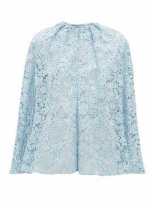 Prada - Cotton-blend Guipure-lace Cape - Womens - Blue