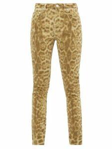 Burberry - Leopard-print Stretch-denim Skinny Jeans - Womens - Leopard