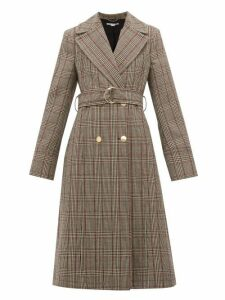 Stella Mccartney - Pow Double-breasted Checked Wool Coat - Womens - Black
