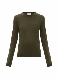 Giuliva Heritage Collection - The Esthia Virgin Wool Sweater - Womens - Dark Green