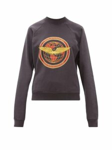 Phipps - Flight Logo Patch Cotton Sweatshirt - Womens - Navy