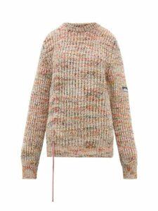 Aries - Drawstring Mélange Sweater - Womens - Multi