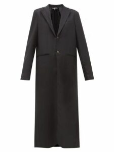 Edward Crutchley - Maxi-length Single-breasted Wool Overcoat - Womens - Black