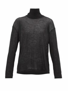 Frances De Lourdes - Simon Roll-neck Cashmere-blend Sweater - Womens - Black