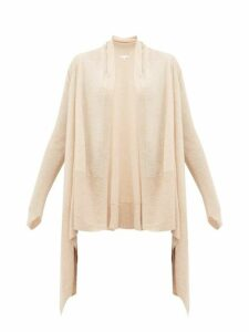 Skin - Mineta Waterfall-hem Wool-blend Cardigan - Womens - Beige