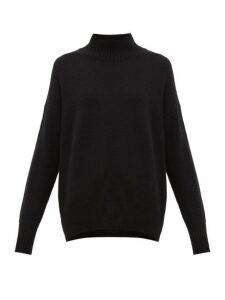 Allude - Oversized High-neck Cashmere Sweater - Womens - Black