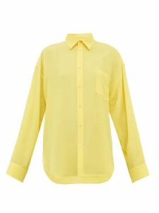 Balenciaga - Silk-crepe Blouse - Womens - Yellow