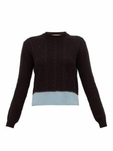 Marni - Cable Knitted Shetland Wool Sweater - Womens - Black Multi