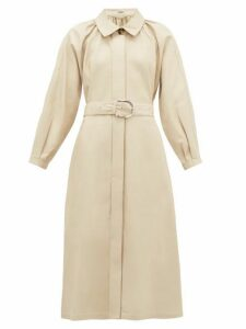 Dodo Bar Or - Berry Collared Leather Dress - Womens - Ivory