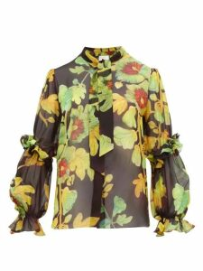 Peter Pilotto - Floral-print Silk-georgette Blouse - Womens - Brown Multi