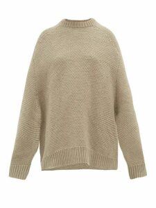 Raey - Crew Neck Basketweave Wool Sweater - Womens - Beige