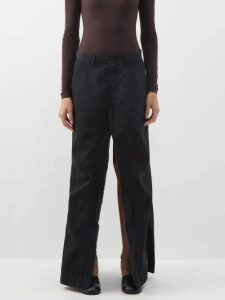 Raey - Crew-neck Basketweave Wool Sweater - Womens - Blue