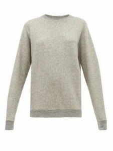 Raey - Raglan-sleeve Cotton-blend Sweatshirt - Womens - Light Grey