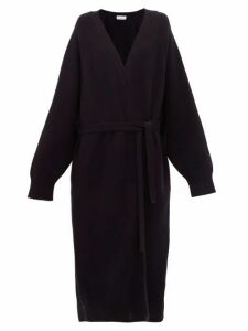 Raey - Long Shawl Belted Cashmere Cardigan - Womens - Navy