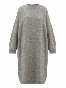 Raey - Oversized Cotton Blend Midi Dress - Womens - Grey