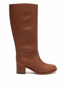 A.p.c. - Iris Knee High Leather Boots - Womens - Tan