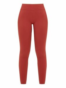 Vaara - Maia Classic Technical-jersey Leggings - Womens - Burgundy Beige