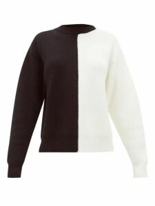 Vaara - Eliza Two-tone Ribbed Wool Sweater - Womens - Black White