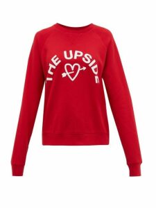 The Upside - One Love Cotton-jersey Sweatshirt - Womens - Red