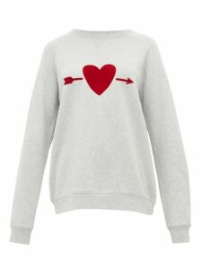 The Upside - One Love Heart-print Cotton Sweatshirt - Womens - Grey