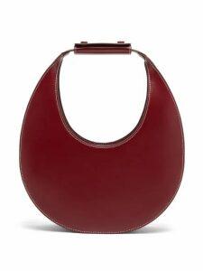 Staud - Moon Leather Shoulder Bag - Womens - Burgundy