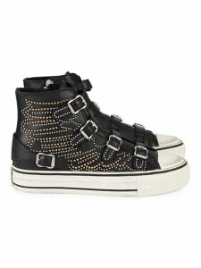 Verso Studded Leather High-Top Sneakers