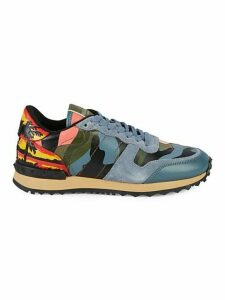 Camo Print Leather Sneakers