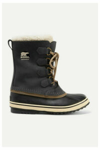 Sorel - 1964 Pac 2 Fleece-trimmed Nubuck And Rubber Snow Boots - Charcoal